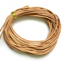 5M Natural Tan Genuine Leather 1.5mm Cord